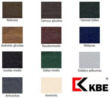 KBE spalvų paletė